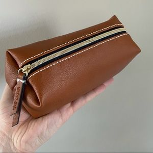 Brown toiletry zippered case
